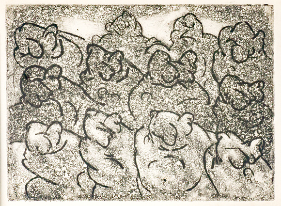 "The Crowd 6"" x 7.75"" Etching"